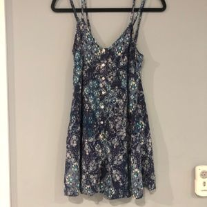 Aeropostale floral tank top small blue very pretty